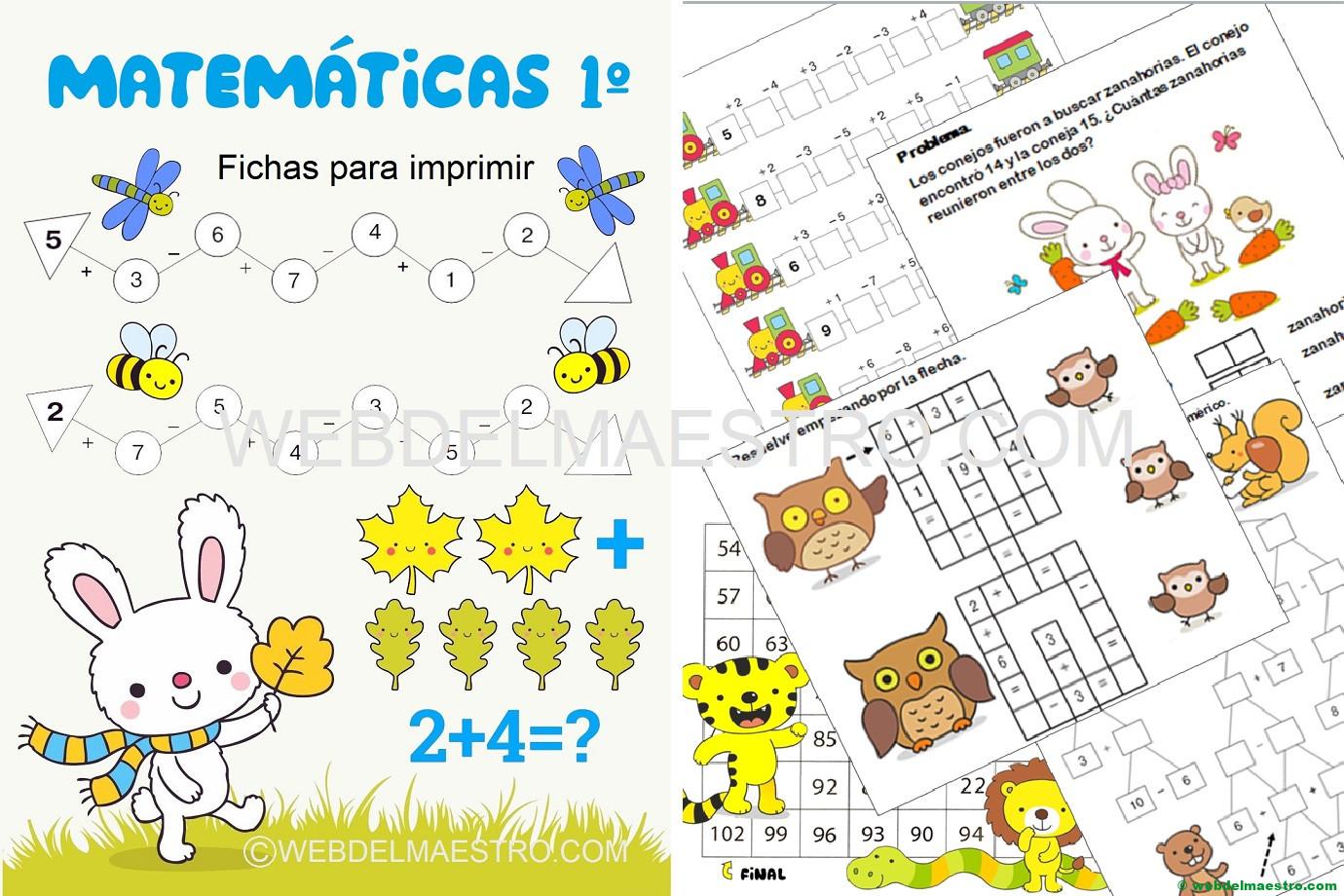 Fichas Matemáticas 1 Primaria Web Del Maestro