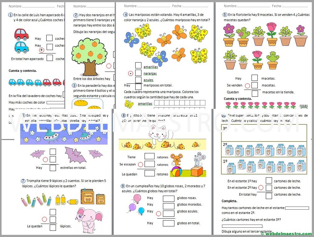 Problemas de matemáticas para primero de primaria