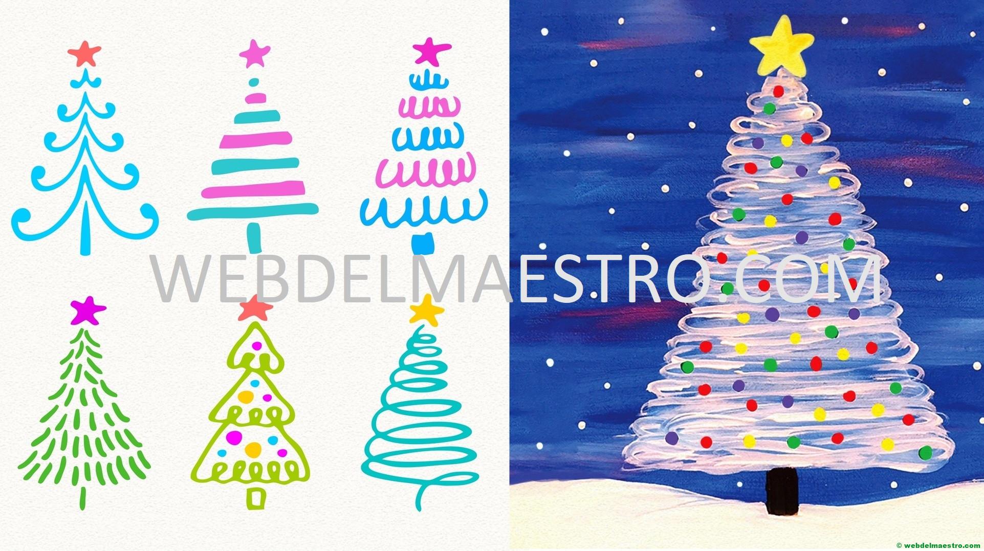 Como dibujar arbol de Navidad